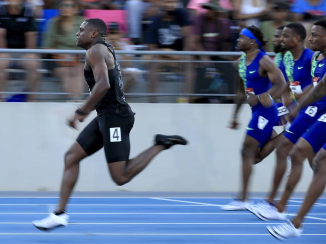 Christian Coleman blitzed the field in the 100m final at the US national championships last month. Picture: Andy Lyons/Getty Images/AFP