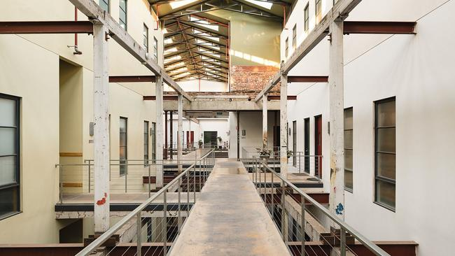 The confectionary factory interiors have been retained.