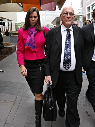 Gerard Baden-Clay's sister Olivia Walton and father Nigel Baden-Clay leave the High Court last month. Picture: Annette Dew