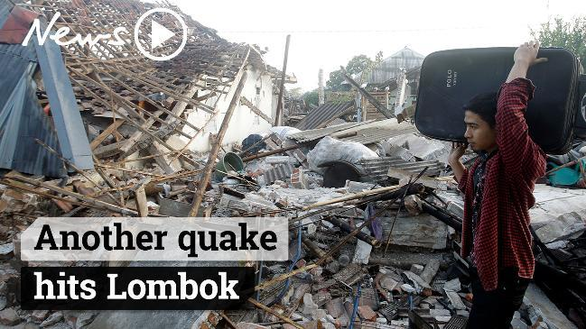 Lombok hit by second earthquake