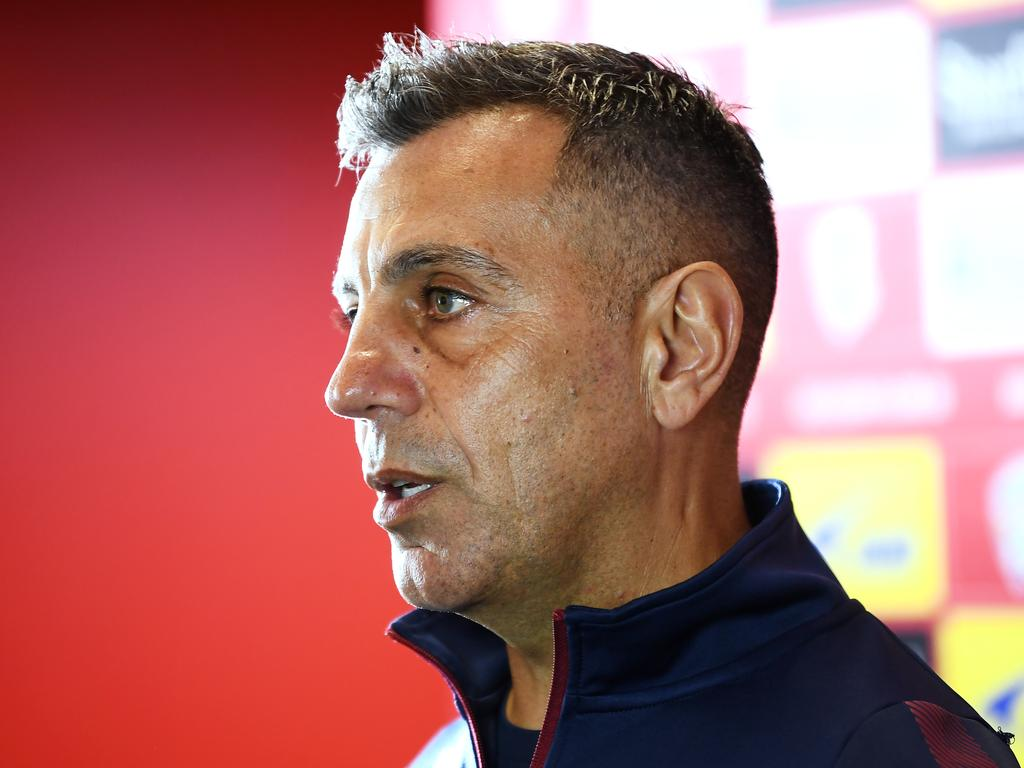 Adelaide United assistant coach Ross Aloisi made an explosive claim about other A-League clubs working within the salary cap. Picture: Mark Brake/Getty Images