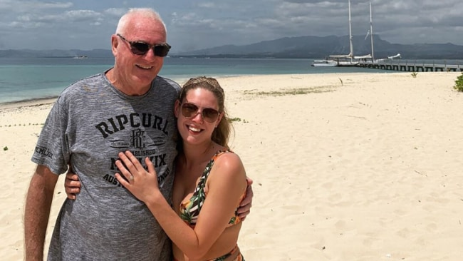 Ashleigh Petrie and Rodney Higgins' relationship had attracted attention for their age difference. Source: Instagram