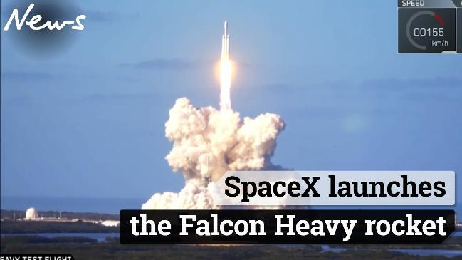 SpaceX launches the Falcon Heavy rocket