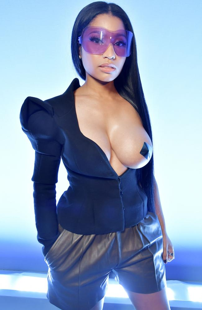 Nicki Minaj's breasts operate under a strict 'one in, one out' policy. Picture: Rex Features / Splash