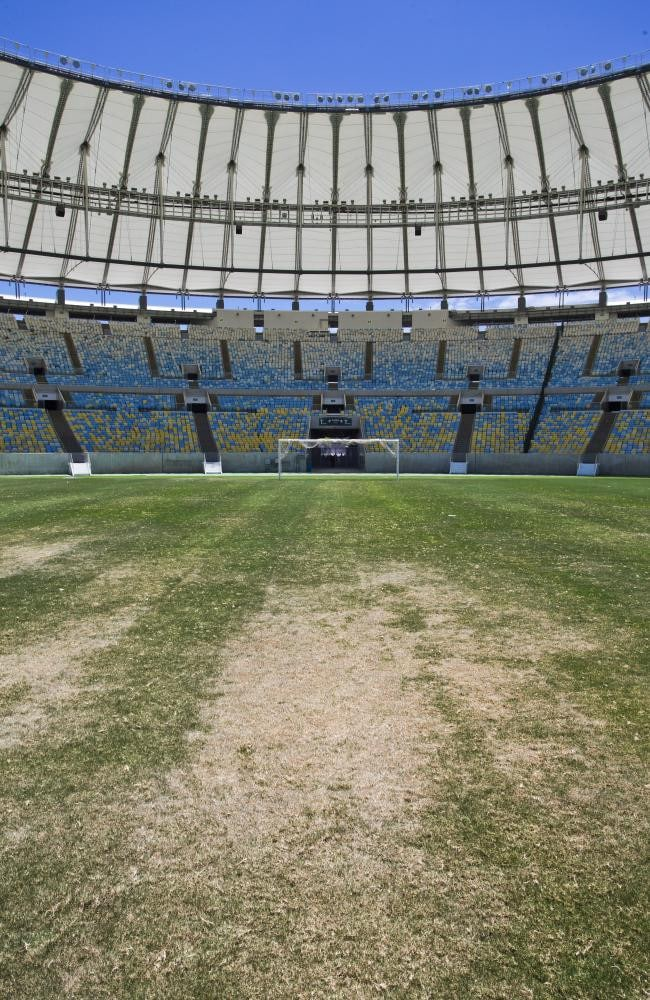 The turf was left bare after months of neglect following the 2016 Olympics. Picture: Guito Moreto/Agência O Globo