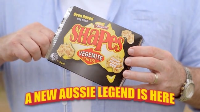Arnott's new Vegemite and Cheese Shapes TV ad