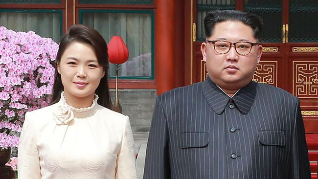 Kim Jong-un's family life is notoriously private. Picture: AFP Photo/KCNA via KNS