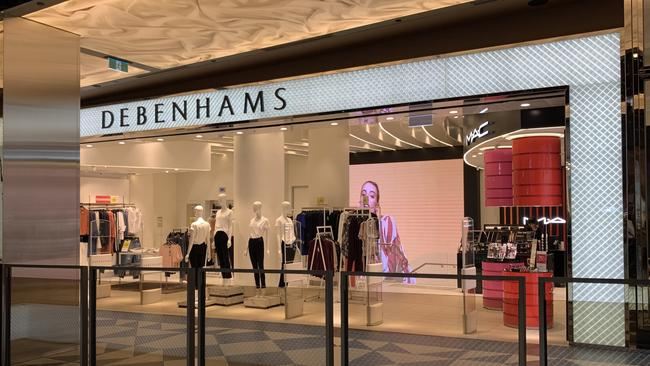 The Debenhams store in Melbourne was hoped to be the first of 10 around Australia. Now it's closing. Picture: Benedict Brook/news.com.au