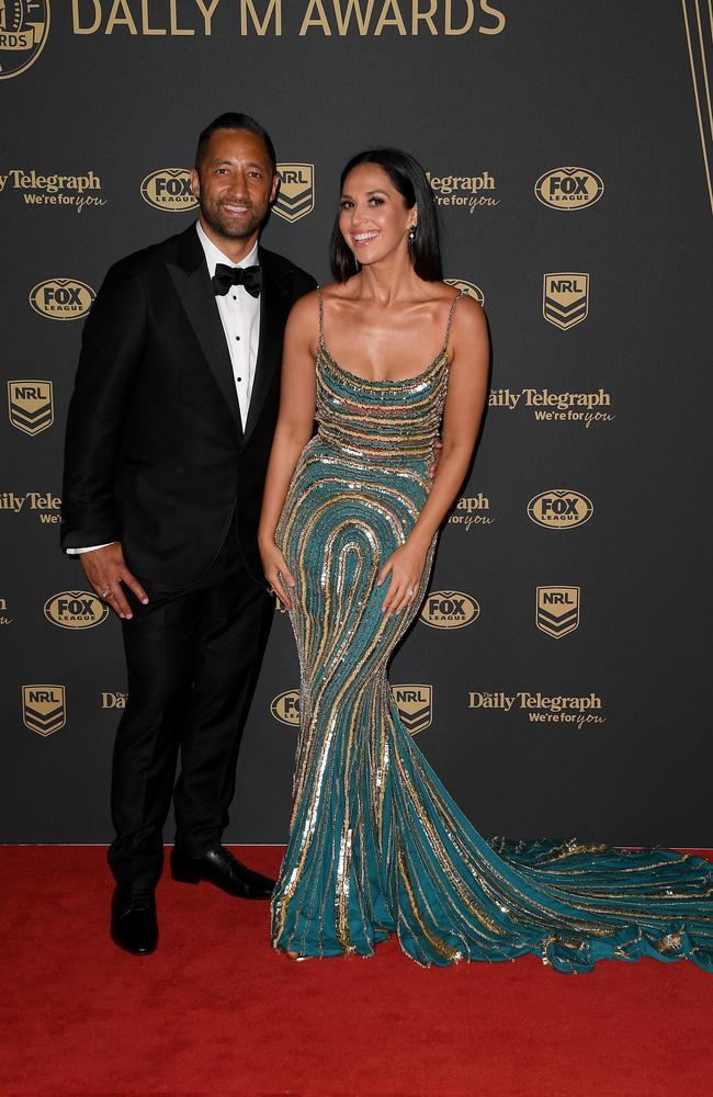 Wests Tigers star Benji Marshall and wife Zoe. Picture: Dan Himbrechts