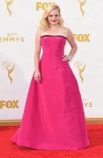 Elisabeth Moss attends the 67th Annual Primetime Emmy Awards in Los Angeles. Picture: Getty