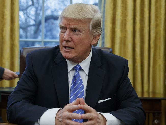 US President Donald Trump's executive order has received a massive global backlash. Picture: Evan Vucci/AP