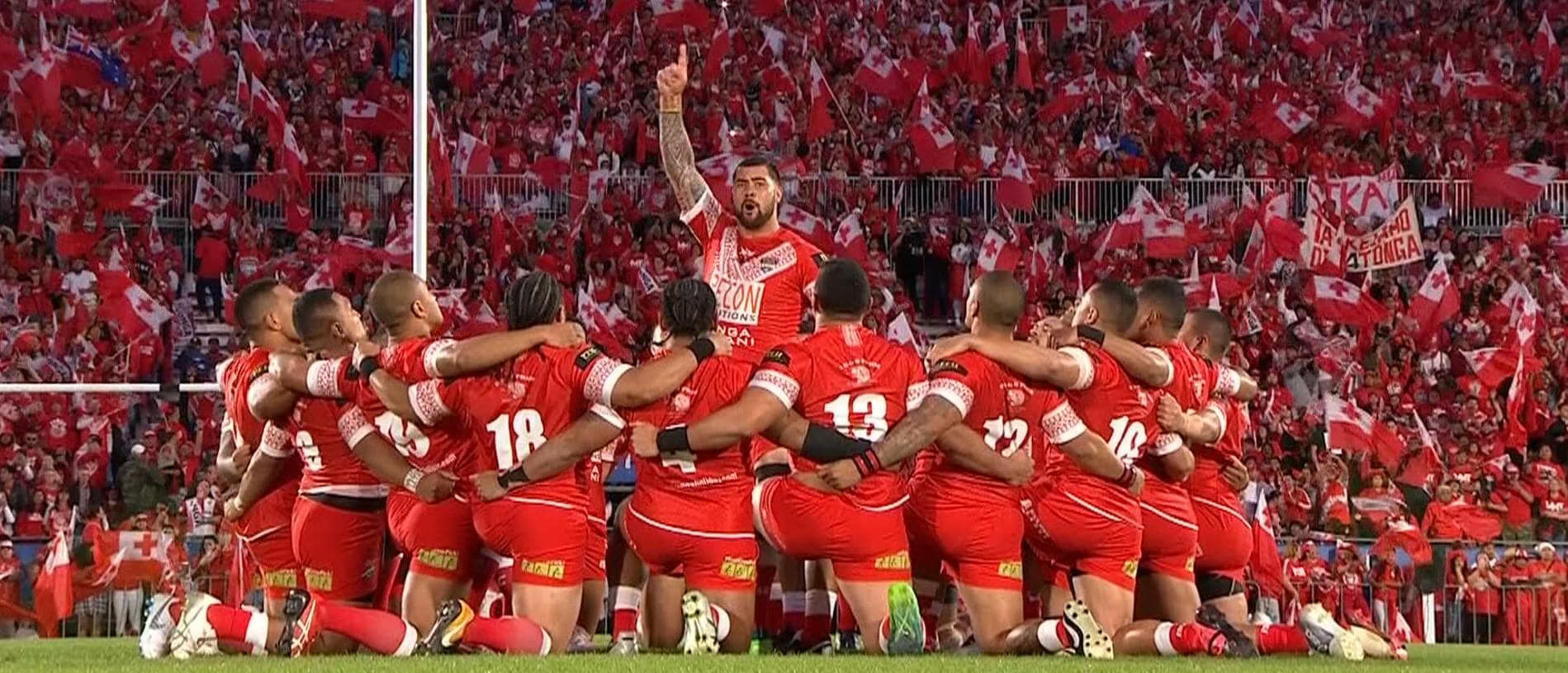 Andrew Fifita during the Sipi Tau.