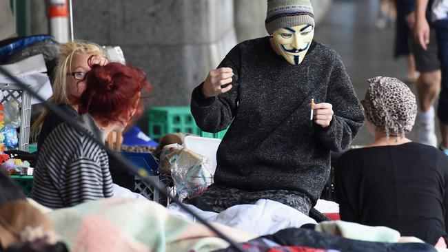 The Lord Mayor vows to move homeless people from the streets. Picture: Nicole Garmston