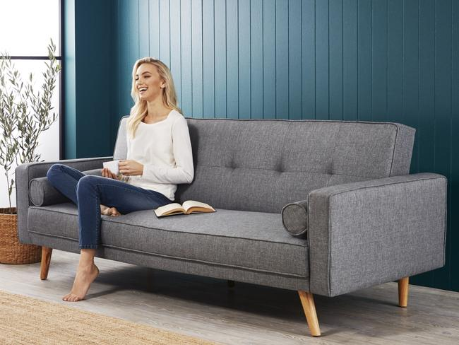 The Aldi Special Buys deal this Saturday includes a sofa bed for $299. Picture: Aldi Australia