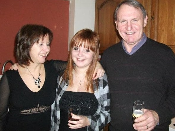 New Zealand-born Christina Annesley, pictured with her parents, died on Koh Tao.