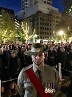 Dawn service at SA National War Memorial, North Terrace. Picture: Tricia Watkinson.