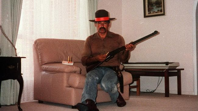 Gun nut turned killer Ivan Milat (above in his living room) complained NSW police unfairly turned the public against him.