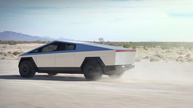 The Cybertruck looks unlike any vehicle on the road.