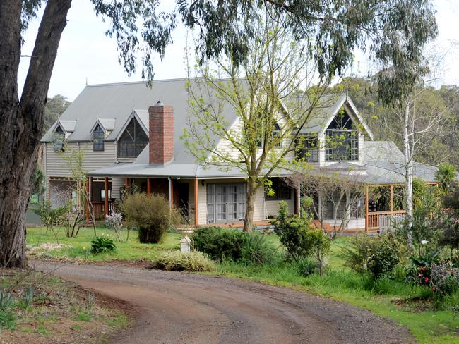 The home of Jacoba and Mark Tromp in Silvan who went missing on Monday. Picture: Andrew Henshaw