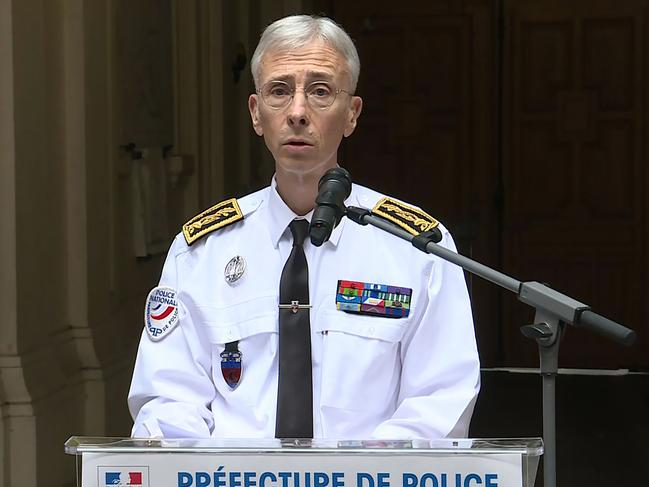 Paris Police Prefect Didier Lallement giving a press conference at the Police headquarters (Prefecture de Police) in Paris on October 4, 2019. Picture: Mathieu Champeu