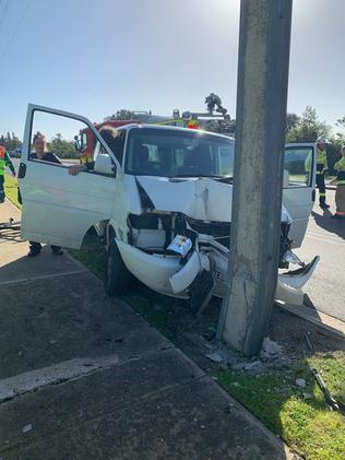 A van has hit a pedestrian and two cyclists on Military Road, West Beach. Picture: Rebecca Tagliaferro