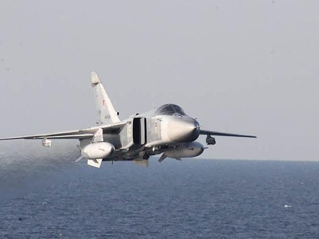 A Russian jet gets too close for comfort. Picture: AFP