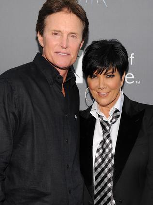 In happier times, Bruce Jenner and Kris Kardashian. Picture: Getty.