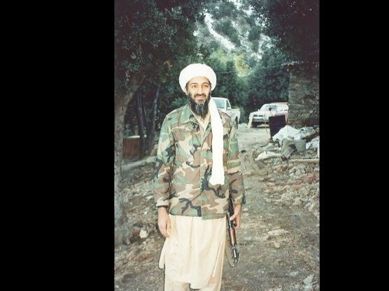 Osama bin Laden outside the compound in Pakistan where he lived with his wives and children. Picture: Courtesty United Stated Attorney's Office, Southern District of New York.