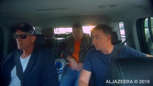 Steve Dickson (left), Rodger Muller (centre) and James Ashby (right). Picture: Al Jazeera/ABC