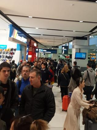 The delays are reportedly due to a mass Australian Border Force security outage.
