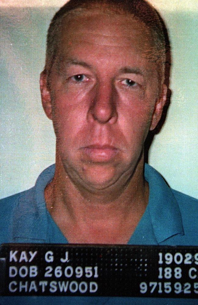 Police mug shot of Kay after his 1997 arrest.