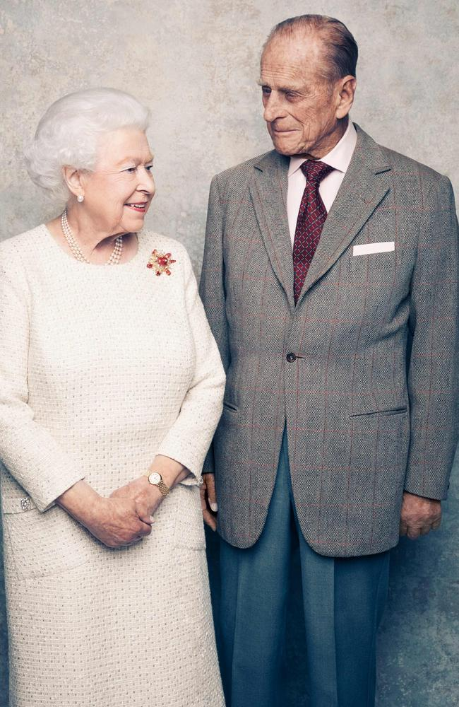 Britain's Queen Elizabeth II and Prince Philip, pictured for their 70th wedding anniversary, have made increasingly rare public appearances during the COVID-19 pandemic. Picture: AFP/Buckingham Palace/CameraPress/Matt Holyoak