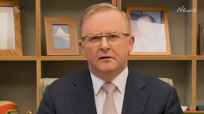 Anthony Albanese launches two minute tirade on Government