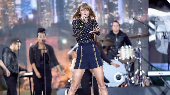 Fast seller ... Taylor Swift performs on Good Morning America. Picture: Getty Images
