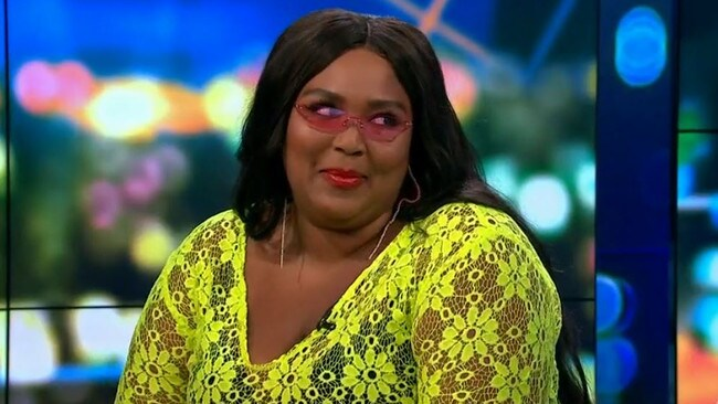 Lizzo was a breath of fresh air on The Project Monday night. Picture: Channel 10.