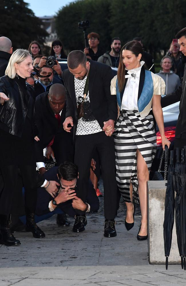 The celeb pest makes his move. Picture: Jacopo Raule/Getty Images