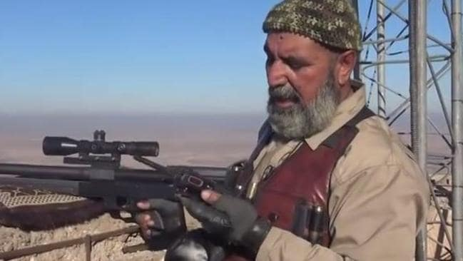 Abu Tahseen claims he is a veteran fighter and sees it as his mission to bring down IS. Picture: Screengrab.