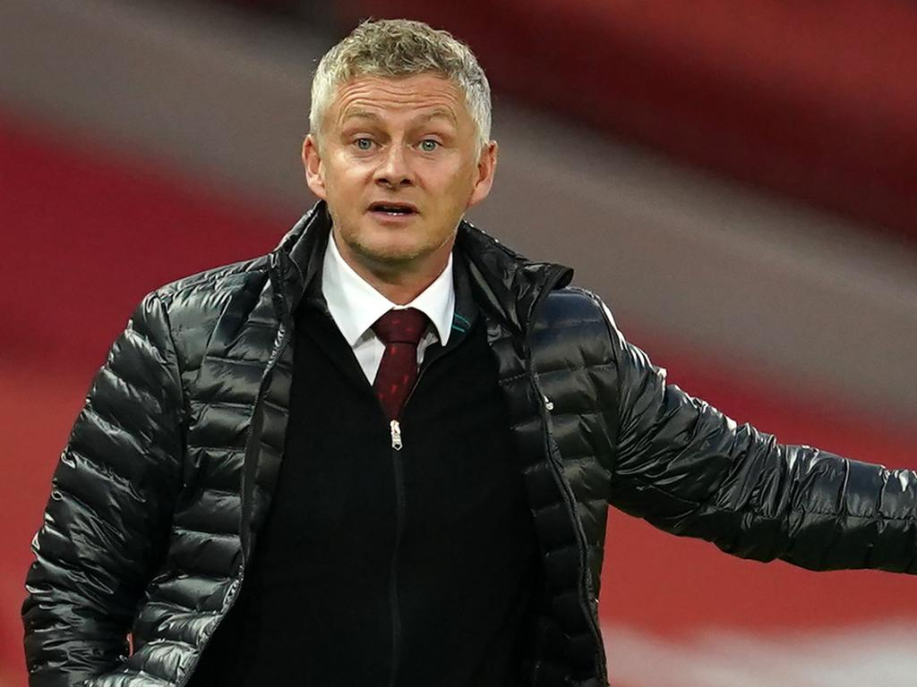 Manchester United's Norwegian manager Ole Gunnar Solskjaer gestures on the touchline during the English Premier League football match between Manchester United and Southampton at Old Trafford in Manchester, north-west England, on July 13, 2020. (Photo by Dave Thompson / POOL / AFP) / RESTRICTED TO EDITORIAL USE. No use with unauthorized audio, video, data, fixture lists, club/league logos or 'live' services. Online in-match use limited to 120 images. An additional 40 images may be used in extra time. No video emulation. Social media in-match use limited to 120 images. An additional 40 images may be used in extra time. No use in betting publications, games or single club/league/player publications. /