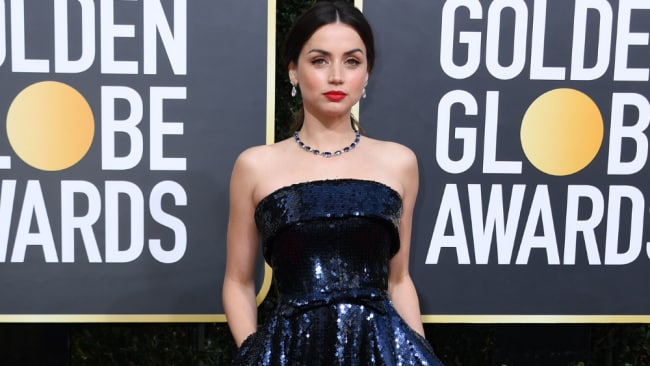 de Armas at the 2020 Golden Globes. Image: Getty