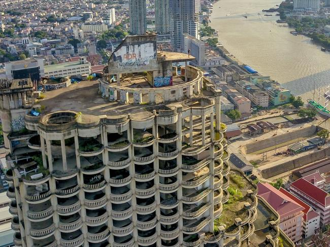 Bangkok's eerie Ghost Tower is one of the most sought-after abandoned buildings for tourists in Asia. Picture: Tyler Cave