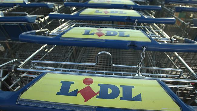 Lidl trolleys at a Berlin supermarket. Picture: Sean Gallup/Getty Images.