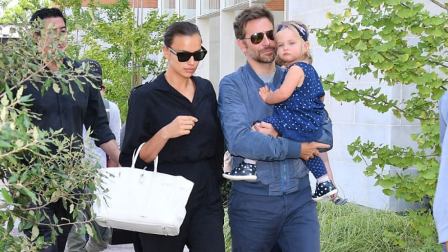 Irina remains fairly tightlipped on the subject of daughter Lea. Image: Getty