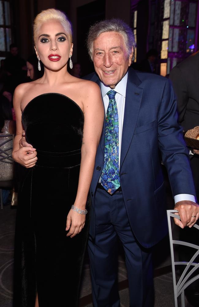 Lady Gaga's collaboration with Tony Bennett was panned by critics. Picture: Kevin Mazur