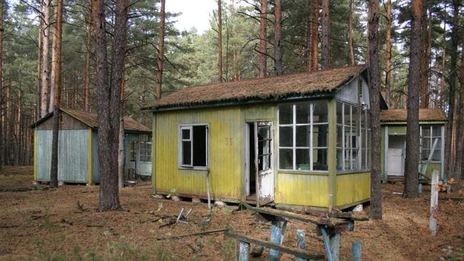 Maxwell is concerned for buildings just like this one, what used to be a Children's Camp in the forest adjacent to Chernobyl Nuclear Power Plant. picture: Supplied. Source: Robert Maxwell