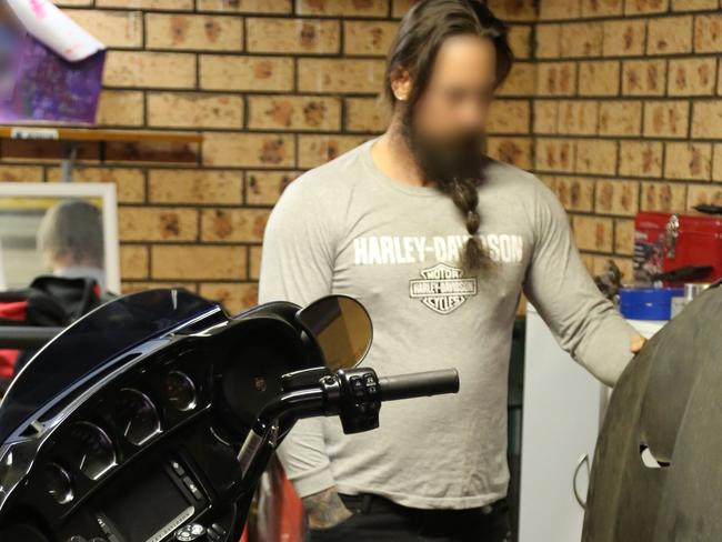 Three members of the Finks outlaw motorcycle gang were arrested this morning. Picture: NSW Police