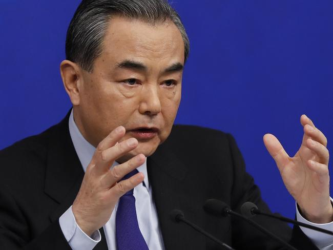 China's Foreign Minister Wang Yi warned the US could be making a huge trade mistake. Picture: Andy Won/AP