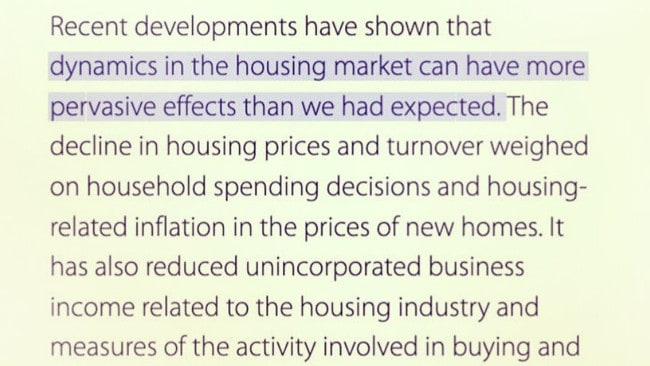 Damning line found in RBA report