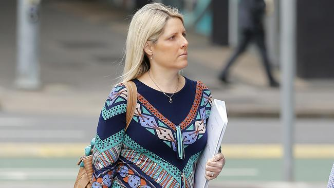 Carrie Curtis at the District Court in Brisbane last year. Picture: Josh Woning/AAP