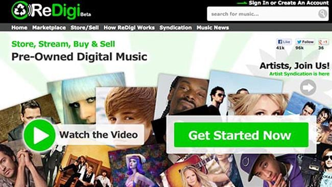 Re-Digi is the first service that lets you buy and sell pre-owned digital music. However they were sued for copyright violation in April.