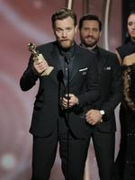 Ewan McGregor accepts the award for Best Performance by an Actor in a Limited Series or Motion Picture Made for Television for Fargo during the 75th Annual Golden Globe Awards at The Beverly Hilton Hotel on January 7, 2018 in Beverly Hills, California. Picture: Getty
